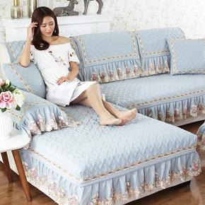 沙发垫纯棉布艺防滑简约现代全棉欧式四季通用沙发套全包沙发罩巾