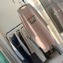 2018 зимняя одежда новая Корейская версия потерять большой код долгое socket случайные алфавита печати женщин платье бархат