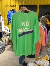 Long Letter Short Sleeve T-shirt in Spring and Summer 2009 Leisure Loose Round Collar Printing