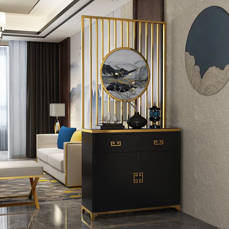 新中式玄关柜隔断柜客厅屏风柜鞋柜简约现代门厅柜间厅柜创意隔断
