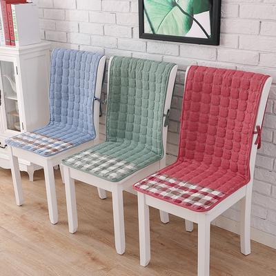 椅子坐垫靠垫一体四季餐桌椅垫椅套套装防滑连体座椅垫办公室全棉年中大促