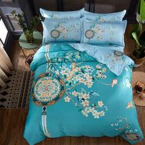 床单被套斜纹正品艳冠群芳1.5m床上用品1.8m富安娜全棉四件套纯棉