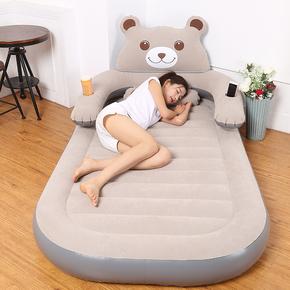 充气床垫卡通榻榻米熊气垫床单人躺椅子卧室家用双人龙猫懒人沙发