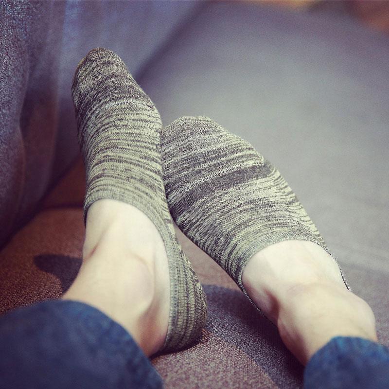 船袜 男士纯棉袜子低帮吸汗 袜子男短袜 防滑豆豆袜夏季隐形浅口