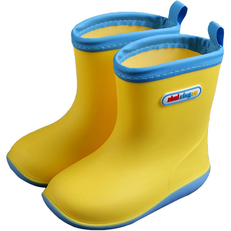 儿童雨鞋男女童幼儿园宝宝雨靴小童幼儿防滑水鞋2日本1-3-7岁轻便