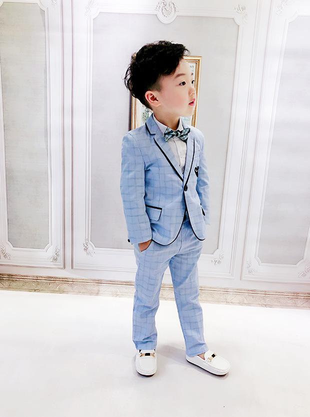 2男童西装套装1-3岁男宝宝小西服外套5儿童潮衣帅气花童礼服6韩版
