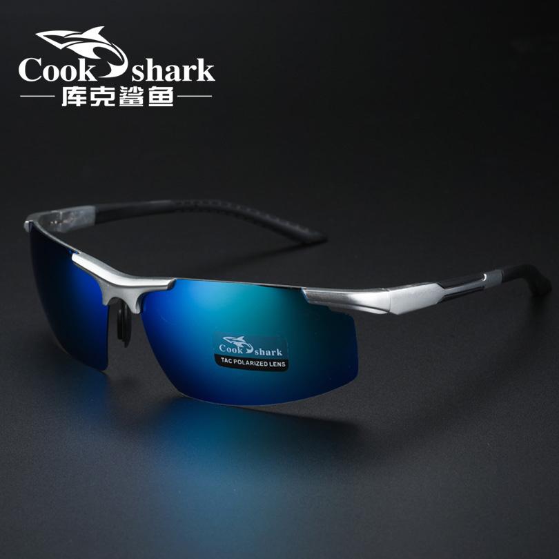 cookshark/库克鲨鱼男太阳镜偏光驾驶眼镜墨镜专用钓鱼镜高清看漂