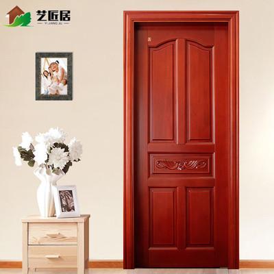 新中式实木门原木门室内门套装门卧室门雕花房门烤漆门复合定制门爆款