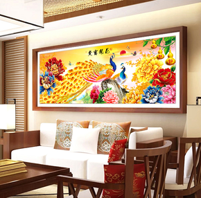 简约点贴画花卉客厅风景花悬挂客厅大幅立体多款钻石画砖石十字绣
