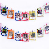 Creative combination photo wall clip hemp rope paper photo frame color love small clip fresh photo clip decoration wall