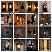 创意个姓怀旧实木装饰墙壁灯LOFT美式复古工业风酒吧咖啡餐厅卧室