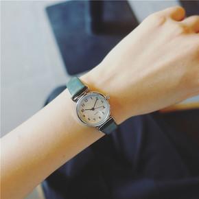 韩版复古女学生手表女皮带森女系时尚潮流简约数字小表盘石英女表