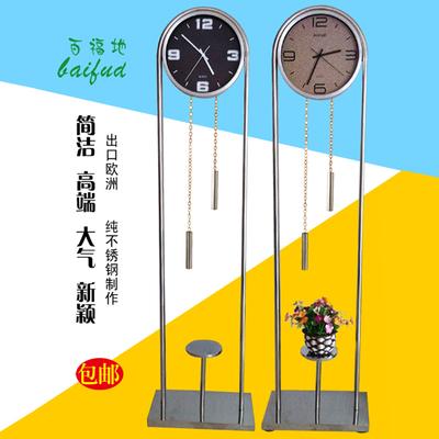 欧式落地钟客厅铁艺美式座钟时尚创意现代家居落地钟挂钟静音立钟