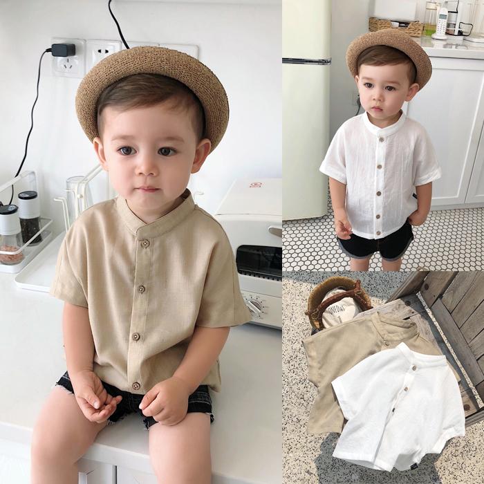 婴儿衬衫短袖
