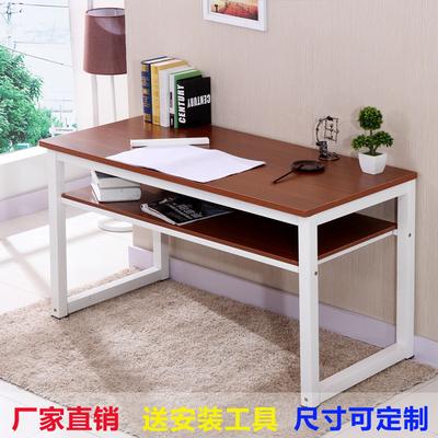 书法桌双层钢木电脑桌简易书桌书画桌办公桌培训桌课桌写字台简约评价好不好