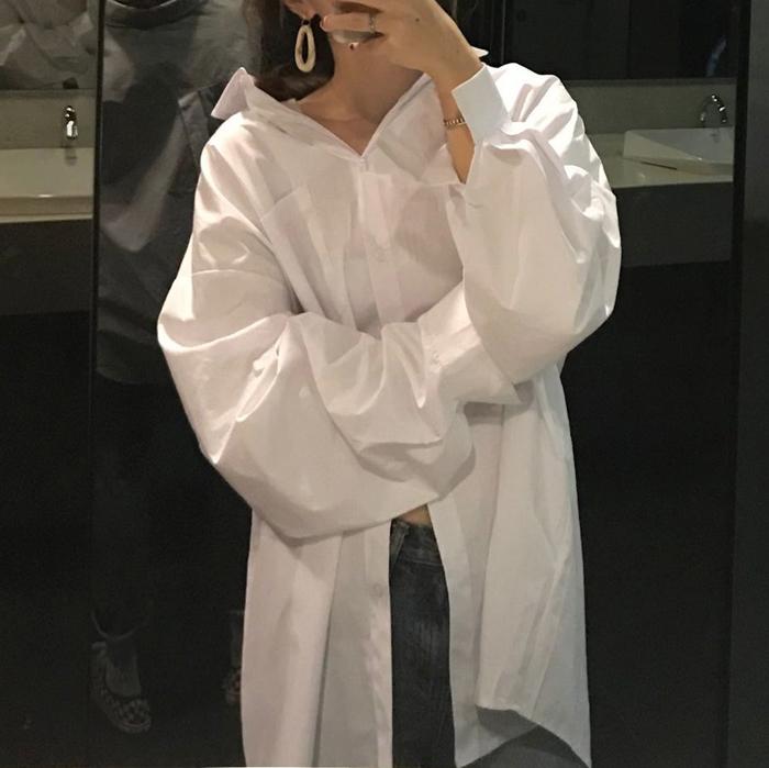衬衫女翻领纯色