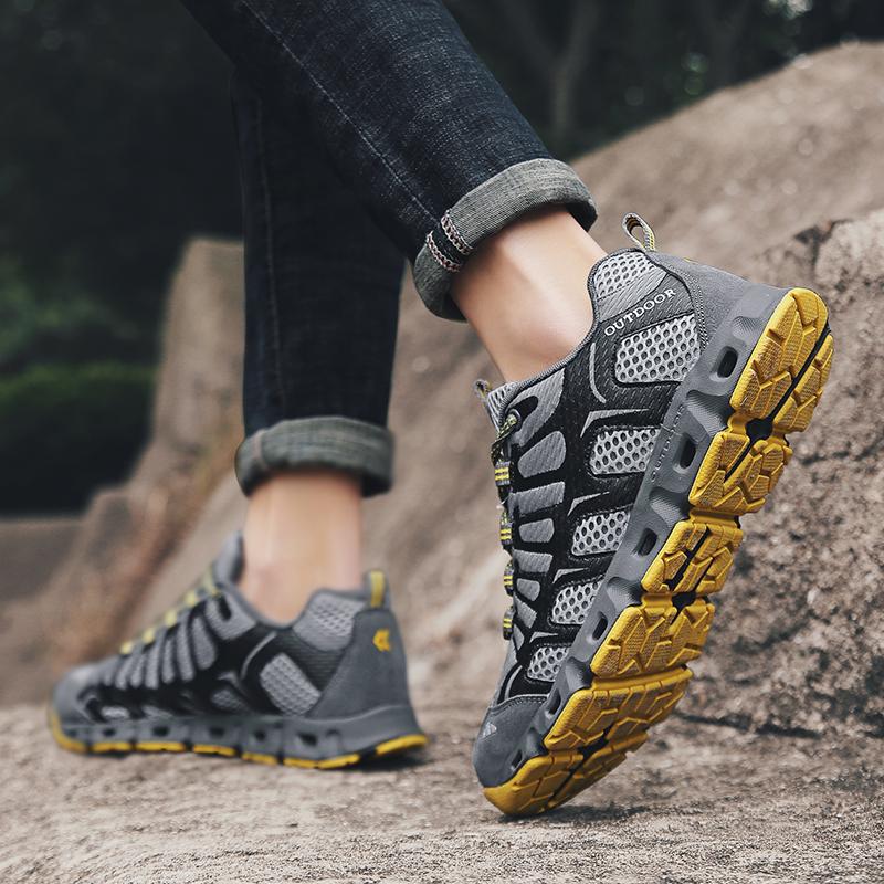 溯溪鞋男女 速干两栖钓鱼鞋涉水鞋徒步登山旅游鞋大码45 46越野鞋