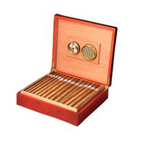 盒密封便携盒子带加湿器湿度计 西班牙雪松木雪茄盒淳化保湿