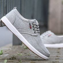Summer new low-top canvas shoes men's shoes 100 sets of tidal shoes linen breathable leisure shoes odor-proof old Beijing cloth shoes men