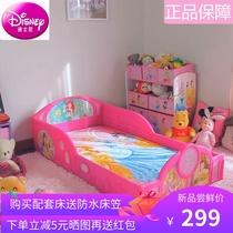 迪士尼简易儿童单人床男生童床女孩公主床卡通组合拼装儿童落地床
