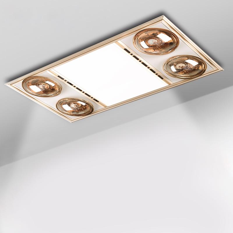 浴霸集成吊顶 多功能灯暖LED照明换气四灯取暖三合一浴霸取暖器
