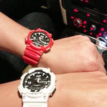 卡西欧手表男女情侣表一对Casio学生运动电子太阳能防水男士手表