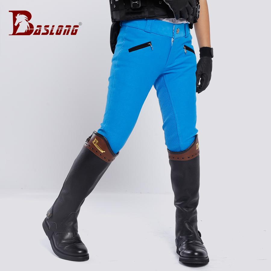 儿童马术护腿儿童骑马护腿牛皮马术护腿耐用透气护腿八尺龙马具