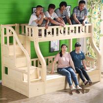 品牌儿童松木全实木上下铺床子母床高低床爬梯直梯梯柜组合床合肥