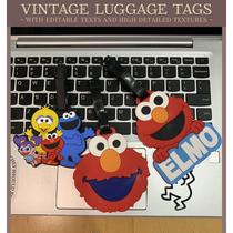 芝麻街行李箱挂件行李牌Elmo旅行箱贴识别牌网红ins