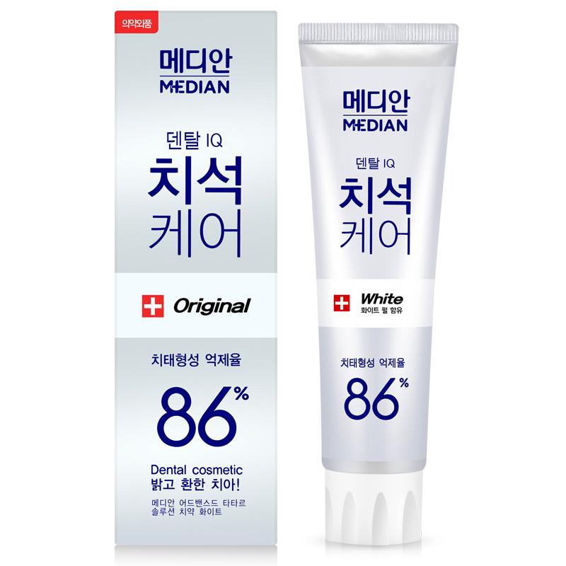 韩国进口正品 爱茉莉麦迪安86牙膏 美白强效去口臭去牙结石 白色