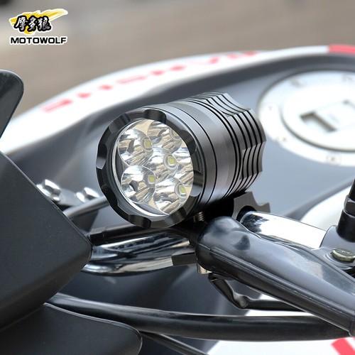 电动摩托车车灯改装超亮强光外置led大灯射灯改装配件装饰灯防水
