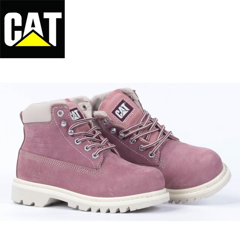 30f08426c4bf CAT 女鞋卡特高帮经典女靴户外秋冬增高休闲马丁鞋P306241C4C