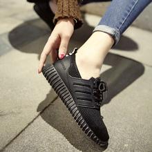 夏季2018新款小白鞋女厚底套脚一脚蹬懒人鞋女生白色帆布鞋休闲鞋