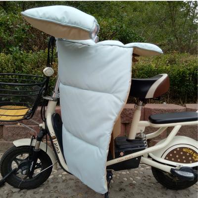 冬季电动车电瓶车挡风被分体防水防雨加厚粉色纯色深色护膝