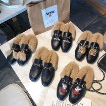雪地靴女短筒冬季短靴加绒加厚靴子圆头平底学生保暖棉鞋防滑女鞋