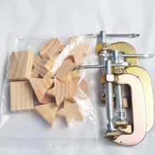 手工扎染DIY工具材料夹染工具材料造型小木块G形夹组合材料包