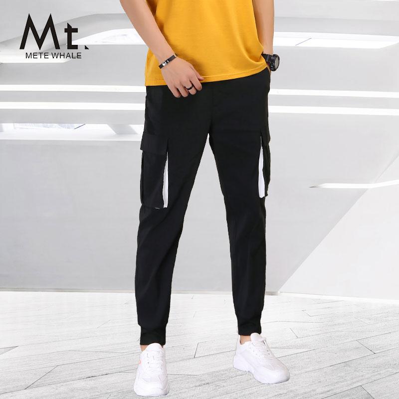 Mt男装美特华菲帅气口袋休闲裤潮流时尚运动裤夏季宽松舒适工装裤