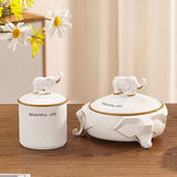 Simple money to make money elephant ashtray creative personality trend home with covered anash tray office living room tea table ornaments