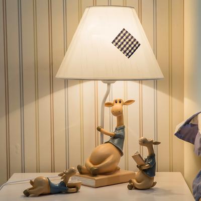 创意床头个性台灯乔迁新居礼品温馨卧室地中海时尚鹿摆件结婚礼物