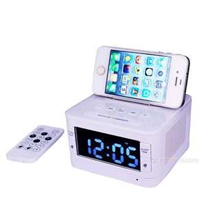 充电闹钟蓝牙音箱usb店客专用蓝牙音箱安卓手机苹果支架酒店客房