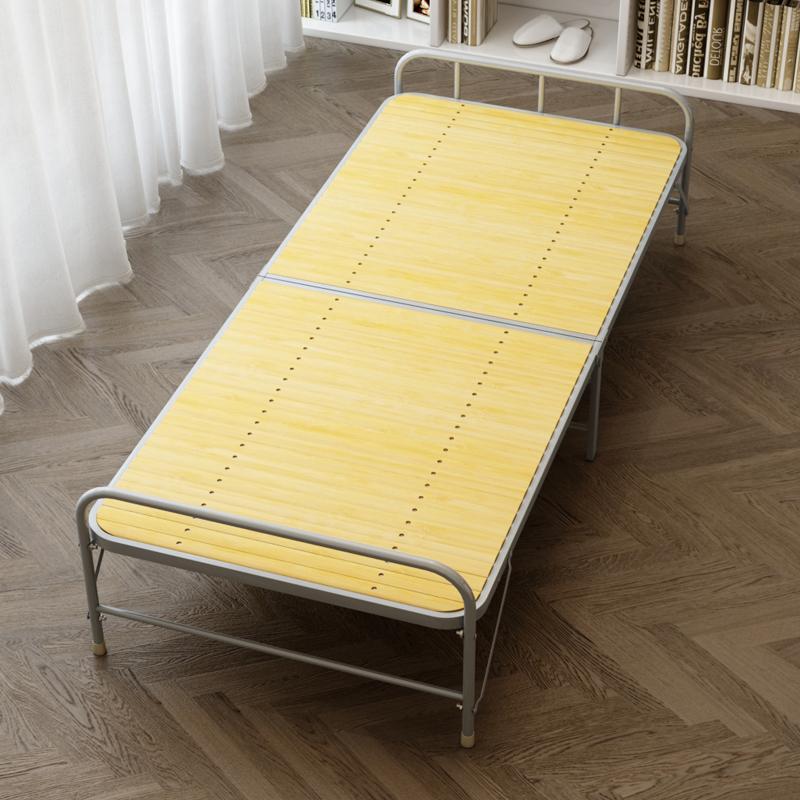竹床折叠床单人简易家用办公室成人硬板午睡便携凉床午休经济型