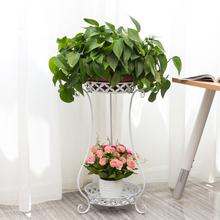 包邮 欧式铁艺花架多层落地式阳台室内客厅花架子特价
