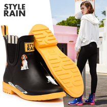 Rain boots female Korean cute short tube British matte rubber rain boots fashion water boots non-slip outdoor adult water shoes