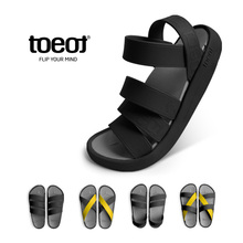 South Korea TOEOT Sports Sandals Men's Leisure Shoes Summer Travel Holiday Beach Shoes Couple Slippers