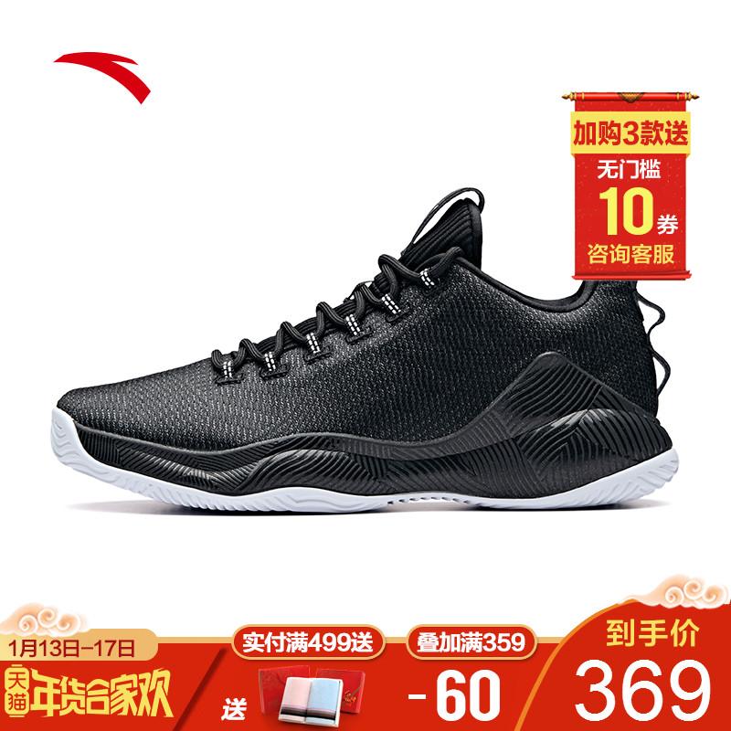安踏篮球鞋男2018冬季新款官网球鞋60th纪念款运动鞋正品11911188