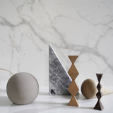 Niceone geometric solid wood sculpture handmade artist series limited edition Nordic tabletop decoration new products