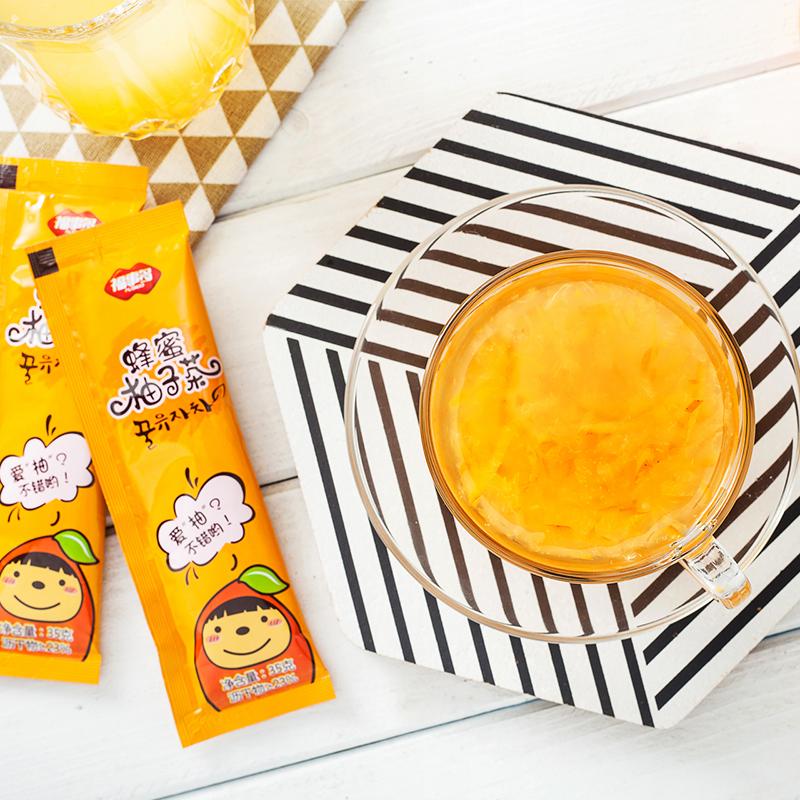 [2件8折]福事多蜂蜜柚子茶420g冲饮小袋装便携 水果茶冲泡饮品