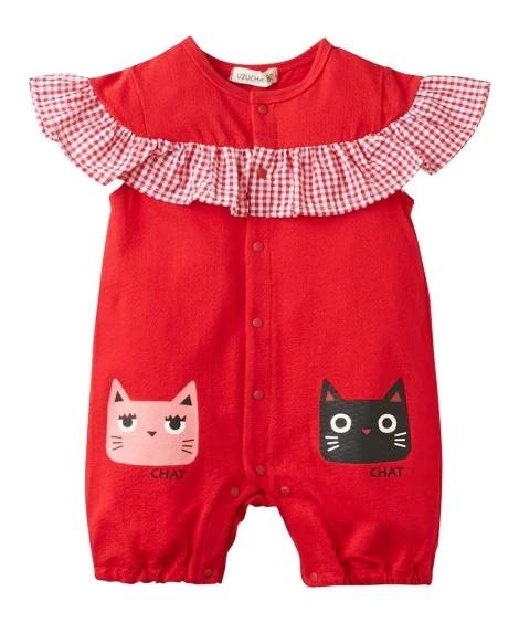 日本直邮nissen婴儿宝宝半袖连体衣爬服70cm