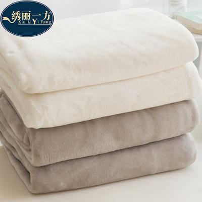 冬季珊瑚绒毛毯加厚纯色保暖法兰绒床单单人学生宿舍小被午睡毯子
