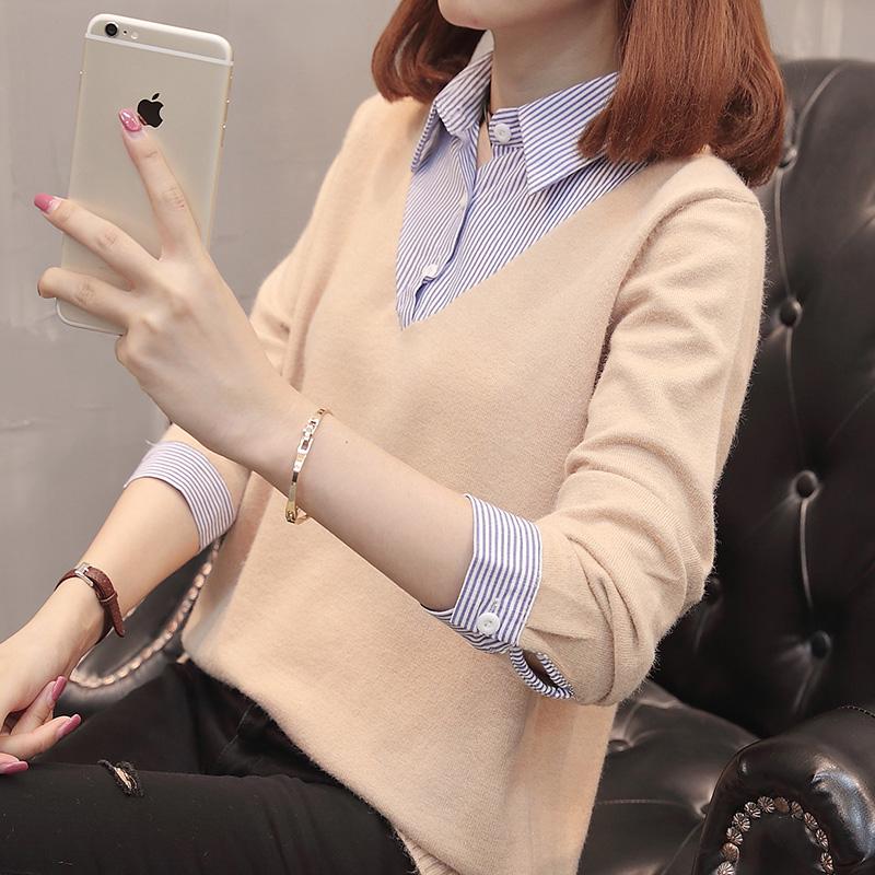 衬衫毛衣女长袖